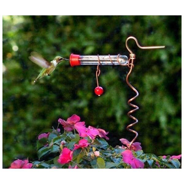 flower pot one tube feeder - top 5 best hummingbird feeders