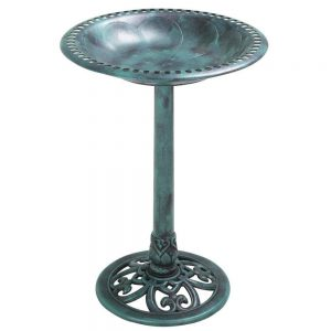 pedestal birdbath - birds need water too