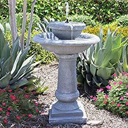 two tiered bird fountain - water is for the birds